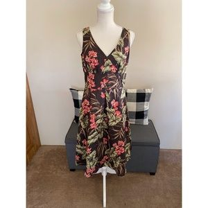 Jones New York Brown Floral Dress Size 10